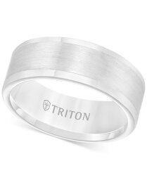 トリトン メンズ リング アクセサリー Men's Ring 8mm Wedding Band in White or Black Tungsten White Tungsten