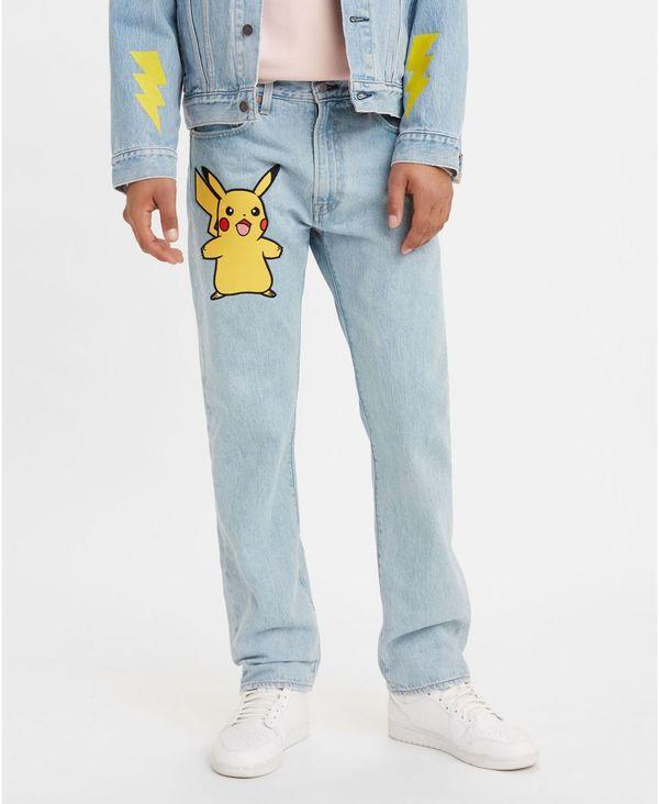 メンズファッション, ズボン・パンツ  x Pokeacute;mon 551Z Mens Authentic Straight Jeans Pokemon Stone Blue