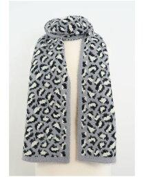 マーカスアドレール レディース マフラー・ストール・スカーフ アクセサリー Women's Leopard Eyelash Scarf Gray