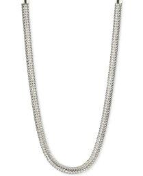 アンクライン レディース ネックレス・チョーカー・ペンダントトップ アクセサリー Silver-Tone Flat Chain Necklace Silver