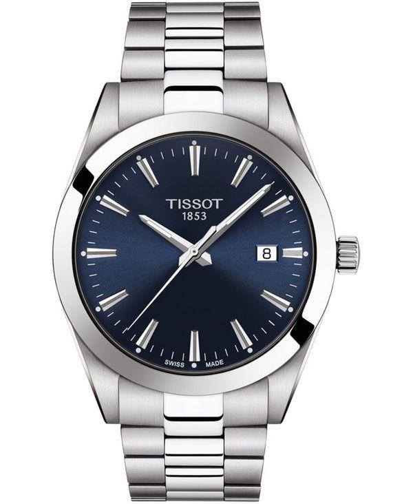 腕時計, メンズ腕時計  Mens Swiss T-Classic Gentleman Stainless Steel Bracelet Watch 40mm Silver