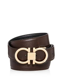 サルヴァトーレ フェラガモ メンズ ベルト アクセサリー Men's Muflone Reversible Leather Belt Hickory