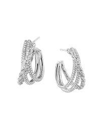 デイビット・ユーマン レディース ピアス・イヤリング アクセサリー Paveflex Shrimp Earrings with Diamonds in 18K White Gold White
