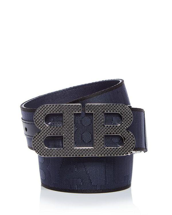 ベルト・サスペンダー, メンズベルト  Mens Mirror B Woven Logo Belt Midnight