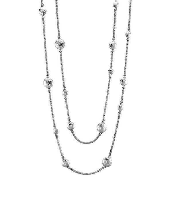 レディースジュエリー・アクセサリー, ネックレス・ペンダント  Sterling Silver Palu Disc Station Sautoir Necklace 36 Silver