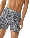 レイス メンズ ハーフパンツ・ショーツ 水着 Clifford Geometric Printed Swim Shorts Navy