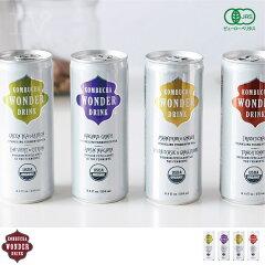KOMBUCHA WONDER DRINK(コンブチャワンダードリンク)/4缶セット【コンブチ…