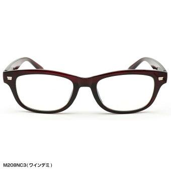 スタイリッシュな「デミ柄+ウェリントン」老眼鏡ブルーライトカット(M-208N)選べる3カラー老眼鏡おしゃれ男女兼用男性用女性用ブルーライト