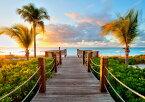 絵画風 壁紙ポスター (はがせるシール式) ビーチ カリブ海 タークスカイコス諸島の夕暮れ 夕陽 キャラクロ BCH-035A2 (A2版 594mm×420mm) 建築用壁紙+耐候性塗料 インテリア