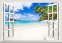 絵画風 壁紙ポスター (はがせるシール式) -窓の景色- ビ...