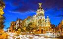 絵画風 壁紙ポスター (はがせるシール式) マドリードの夜景 アルカラ通りとグランヴィア通り スペイン マドリー キャラクロ MDRD-001W1 (ワイド版 921mm×576mm) 建築用壁紙+耐候性塗料 インテリア