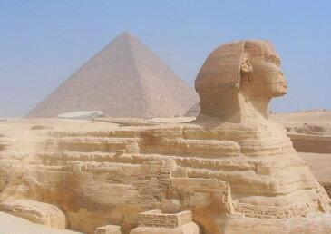 絵画風 壁紙ポスター (はがせるシール式) スフィンクス ピラミッド 古代エジプト 世界遺産 ピラミッドパワー キャラクロ ESFC-001A1 (A1版 830mm×585mm) 建築用壁紙+耐候性塗料 インテリア