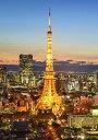 絵画風 壁紙ポスター (はがせるシール式) 夕暮れの東京タワ