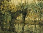 絵画風 壁紙ポスター(はがせるシール式) ピエト・モンドリアン ウィローグローブ 光と影の印象 1905年 ダラス美術館 抽象絵画 キャラクロ K-MND-004S1 (758mm×585mm) 建築用壁紙+耐候性塗料 インテリア