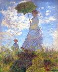 絵画風 壁紙ポスター(はがせるシール式) クロード モネ 散歩 日傘をさす女性 1875年 ワシントンナショナルギャラリー キャラクロ K-MON-004S1 (585mm×724mm) 建築用壁紙+耐候性塗料 インテリア