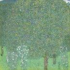 絵画風 壁紙ポスター (はがせるシール式) グスタフ・クリムト 樹々の下の薔薇 1905年 オルセー美術館 キャラクロ K-KLT-015S1 (594mm×594mm) 建築用壁紙+耐候性塗料 インテリア