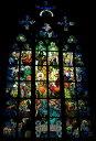 絵画風 壁紙ポスター (はがせるシール式) ミュシャの窓 絵画 アルフォンス・ミュシャ プラハ聖ヴィート大聖堂 ステンドグラス絵画 1930年代 キャラクロ K-MCH-013S1 (576mm×838mm) 建築用壁紙+耐候性塗料 インテリア