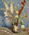 絵画風 壁紙ポスター(はがせるシール式) フィンセント ファン ゴッホ グラジオラスのある花瓶 1886年 ゴッホ美術館 キャラクロ K-GOH-030S2 (485mm×594mm) 建築用壁紙+耐候性塗料 インテリア