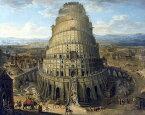絵画風 壁紙ポスター (はがせるシール式) バベルの塔 THE TOWER OF BABEL 17世紀 AT キャラクロ K-BBL-008S1 (732mm×585mm) 建築用壁紙+耐候性塗料 インテリア