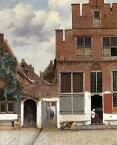 絵画風 壁紙ポスター (はがせるシール式) ヨハネス・フェルメール デルフトの小道(小路) 1658年頃 アムステルダム国立美術館 キャラクロ K-JVM-011S1 (585mm×719mm) 建築用壁紙+耐候性塗料 インテリア