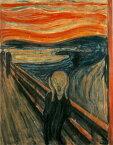 絵画風 壁紙ポスター (はがせるシール式) エドヴァルド・ムンク 叫び The Scream 1893年 生命のフリーズ オスロ国立美術館 キャラクロ K-MNC-001S1 (585mm×745mm) 建築用壁紙+耐候性塗料 インテリア