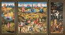 絵画風 壁紙ポスター (はがせるシール式) ヒエロニムス・ボス 快楽の園 三連祭壇画 1480-1500年頃 プラド美術館 エデンの園 地獄 フランドル絵画 キャラクロ K-HBS-001S2 (603mm×322mm) 建築用壁紙+耐候性塗料 インテリア