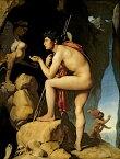 絵画風 壁紙ポスター(はがせるシール式) ドミニク・アングル スフィンクスの謎を解くオイディプス 1808年 ルーヴル美術館 キャラクロ K-ING-011S2 (450mm×594mm) 建築用壁紙+耐候性塗料 インテリア