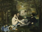 絵画風 壁紙ポスター (はがせるシール式) エドゥアール・マネ 草上の昼食 1863年 オルセー美術館 キャラクロ K-MNT-002S1 (759mm×585mm) 建築用壁紙+耐候性塗料 インテリア