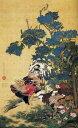 【売れ筋】絵画風 壁紙ポスター(はがせるシール式) 伊藤若冲 紫陽花双...