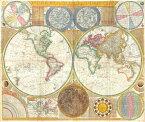 絵画風 壁紙ポスター (はがせるシール式) 世界地図 古代 1794年 キャラクロ WMP-004S1 (694mm×585mm)