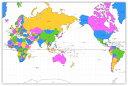 絵画風 壁紙ポスター (はがせるシール式) 世界地図 メルカトル図法 ...