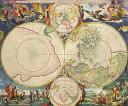 絵画風 壁紙ポスター (はがせるシール式) 古代 世界地図 アンティー...