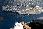 絵画風 壁紙ポスター (はがせるシール式) 空母 ドワイト・D・アイゼンハワー USS アメリカ 海軍 航空母艦 キャラクロ UNAC-009S1 (846mm×576mm) 建築用壁紙+耐候性塗料 インテリア