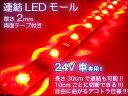 防水テープライト 連結 SMD LED 24V 超高輝度 30cmレッド/ 【送料無料】/###LED24VET30赤★###