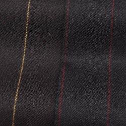 PT01(ピーティーゼロウーノ)HEPCATウールストレッチサキソニーストライプ1プリーツパンツGENTLEMANFIT