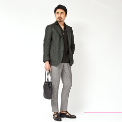 AlfonsoSirica(アルフォンソシリカ)リネンホップサックシングル3Bジャケット