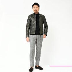 EMMETI(エンメティ)ANDREAラムナッパレザー中綿入りシングルライダースジャケット