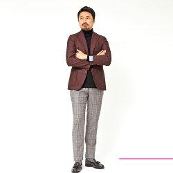 Gabo(ガボ)NEWNAPOLIウールホップサックメランジシングル3Bジャケット