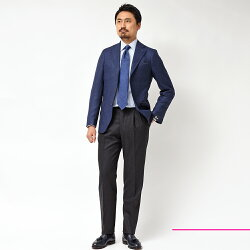 Gabo(ガボ)NEWNAPOLIロロピアーナウールシルクツイルシングル3Bジャケット