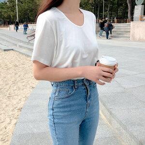 シンプルベーシック半袖Tシャツ