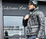 【CALIFORNIA LINE/カリフォルニアライン】レザーダウンジャケット/AVIATOR MC DOWN JKT★REAL DEAL