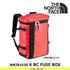 ノースフェイスキッズ子供用バックパックKBCFUSEBOXNMJ81630カラー:(TR)TNFレッドバックパックTHENORTHFACE