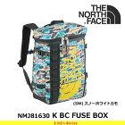 ノースフェイスキッズ子供用バックパックKBCFUSEBOXNMJ81630カラー:(SW)スノーホワイトカモバックパックTHENORTHFACE