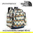 ノースフェイス キッズ 子供用 サニーキャンパー40+6 NMJ71700 K Sunny Camper 40+6 カラー:(TP)トライバルプリント バックパック THE NORTH FACE 【17SS】