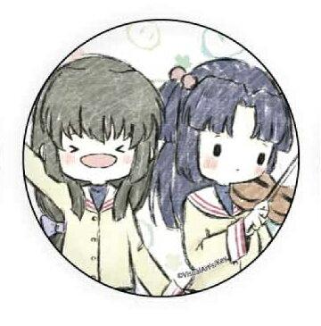 【伊吹風子&一ノ瀬ことみ】 缶バッジ CLANNAD 01 グラフアートデザイン
