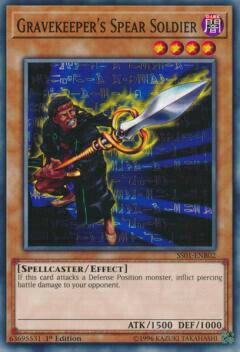 トレーディングカード・テレカ, トレーディングカードゲーム  SS01-ENB02 Gravekeepers Spear Soldier ( 1st Edition ) Speed Duel Starter Decks: Destiny Masters