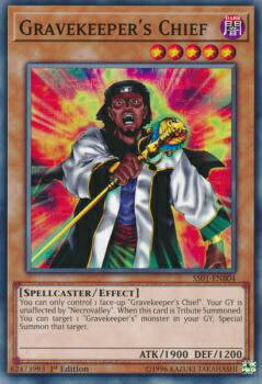 トレーディングカード・テレカ, トレーディングカードゲーム  SS01-ENB04 Gravekeepers Chief ( 1st Edition ) Speed Duel Starter Decks: Destiny Masters