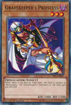 トレーディングカード・テレカ, トレーディングカードゲーム  SS01-ENB07 Gravekeepers Priestess ( 1st Edition ) Speed Duel Starter Decks: Destiny Masters