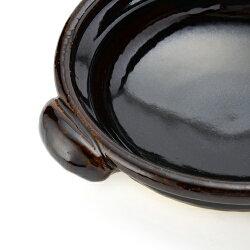 【三重県】伝統工芸品土楽(ドラク)口付黒鍋/8寸