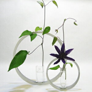 使い手の創造性を引き立てるようなデザインが魅力のALARTのフラワーベース。透明感のあるガラス...